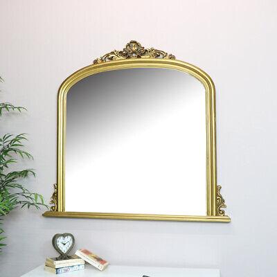 Grande Dorado Overmantel Espejo de Pared Vintage French Shabby Chic Cuarto Estar