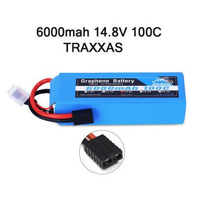 Lipo Trx Plug - Yowoo 4S 14.8V 6000mAh 100C Graphene Lipo Battery TRX Plug for Traxxas Truck Car