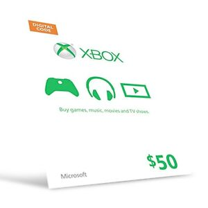 2, 50$ Mircosoft/xbox giftcards never opened/activated.