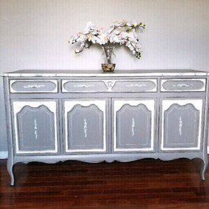Malcolm buffet server sideboard refinished