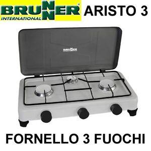 Brunner aristo 3 fuochi fornello da campeggio a gas ebay for Fornello da campeggio a gas 3 fuochi