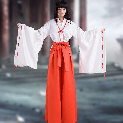 Inuyasha Kikyou Kikyo Cosplay Kostüm Kleidung Kimono mit - Inuyasha Kikyo Cosplay Kostüm