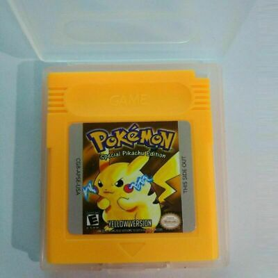 Pokemon Yellow Version Cartridge Card for Game Boy Color Advance GBC GBA SP