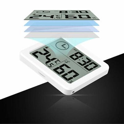 Weiß Zimmer Thermometer Hygrometer Digital Min Max Innen Luftfeuchtigkeit DE NEU