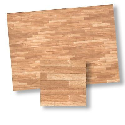 Dollhouse Miniature Wood Look Parquet Flooring Paper