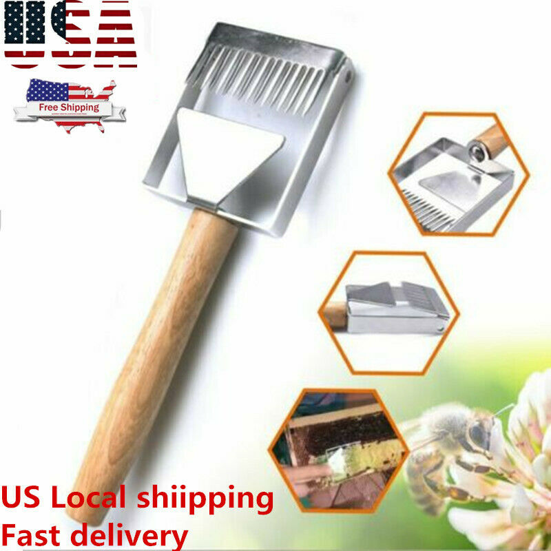 Multifunction Bee Hive Uncapping Honey Fork Scraper Shovel Beekeeping Tool US