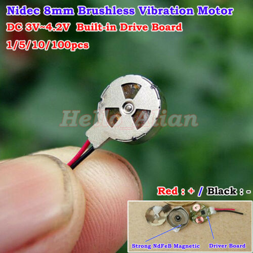 Mini 8mm Pager Cell Phone Mobile Coin Flat Vibrating Vibration Brushless Motor
