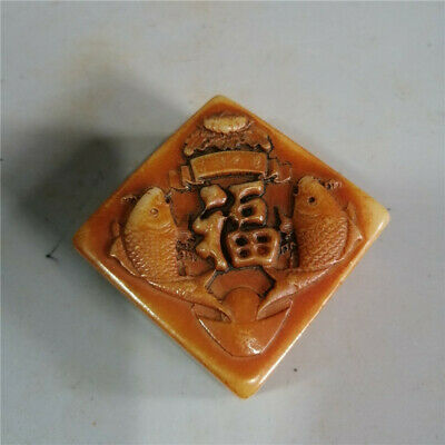 Collection Chinese natural Shoushan Stone Hand-carved Word seal signet stamp