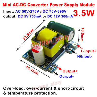 Mini Ac-dc Converter Ac 110v 220v 230v To Dc 5v 12v Volt Power Supply Switching