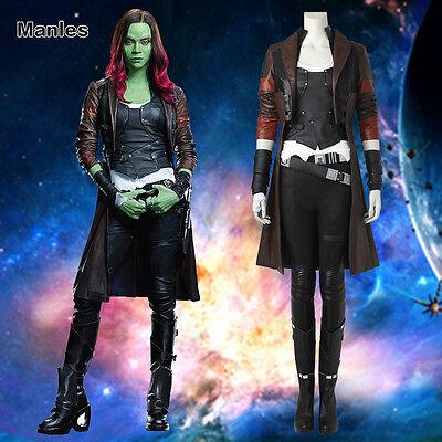Hot Halloween Cosplay Guardians of the Galaxy Vol. 2 Gamora Costume Fancy Dress