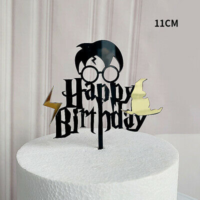 Happy Birthday Cake Topper Tortendeko Kuchendeko Tortenstecker Harry Potter