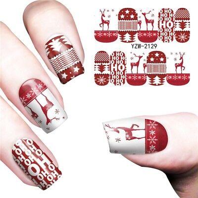 Nail Decal Santa Claus Snowman Striped Nail Art Stickers Women Makeup Decor New