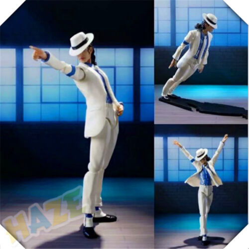 Michael Jackson Action Figure Moonwalk Statue PVC Collection New In Box