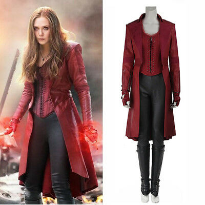 Avengers 3 Infinity War Scarlet Witch Wanda Maximoff Cosplay Costume Outfit Coat](Avengers Outfit)