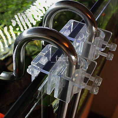 Acrylic Aquarium Hose Tube Fixing Clip Holder Clamp For 20mm Dia Pipe New US