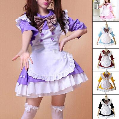 Alice Im Wunderland Kostüm Cosplay Damen Mädchen Dienstmädchen Lolita Halloween