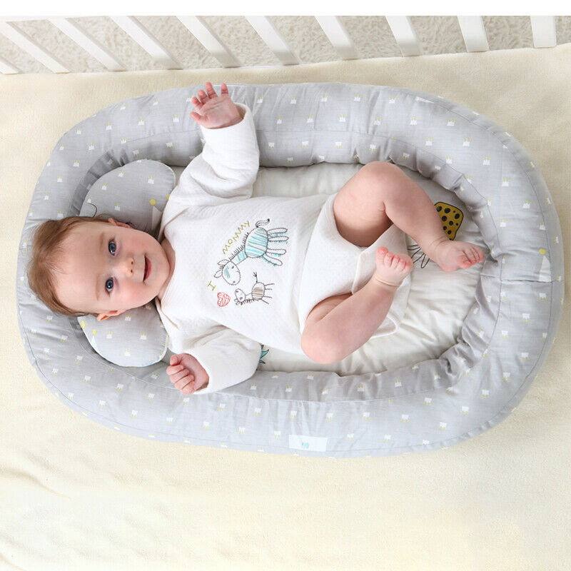 Portable Baby Nest Lounger Bed Crib Newborn Sleeper Infant Bassinet w/Pillow USA