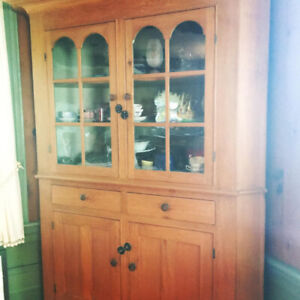 Stunning Antique Pine Corner Cupboard that has been Loved $3,600