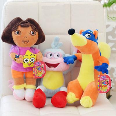 3X DORA The Explorer Swiper Fox Boots The Monkey Plush Toy Stuffed Doll 10''