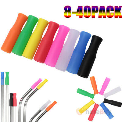 Lot Silicone Straw Tips Covers Fit for 6 mm Straws In Compostable Bag Safe Reuse Silicone Tip Covers