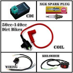 all electrics 110cc 125cc 140cc cdi coil spark harness pit dirt bike atomok tdr ebay
