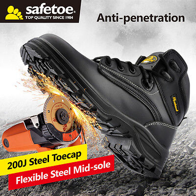 safetoe Work Shoes safety Boots Steel Toecap Abrasion Resistant US Size12 for sale  Shipping to South Africa