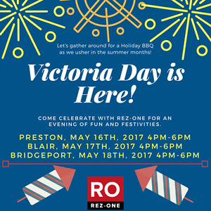 REZ-ONE VICTORIA DAY BBQ AND LEASING EVENT