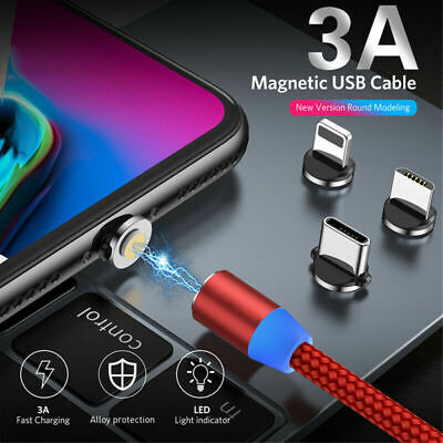 3 in 1 Magnetic Absorption Data Charger-Cable 360 Degree Innovative LED Streamer