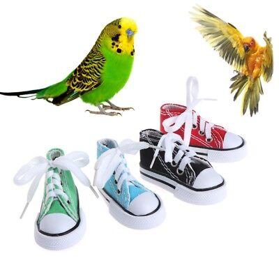 Mini Canvas Shoes Bird Toys Chew Bite Decoration Hanging Cage Funny Parrot Pet
