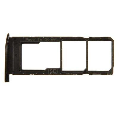 SIM Micro SD Card Tray Dual for Motorola Moto G7 G7 Plus Black