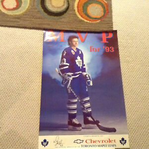 Early 90's Doug Gilmour and Mike Gardner hockey posters