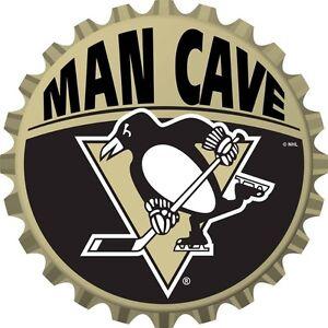 Pittsburgh Penguins NHL Mancave Bottle Cap Sign at JJ Sports!