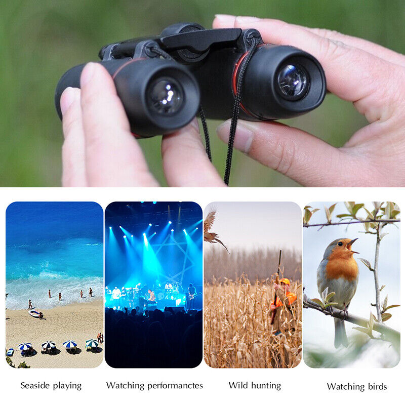 Mini Binoculars Telescope 30X60 Zoom Day Night Vision Foldable Travel Hunting