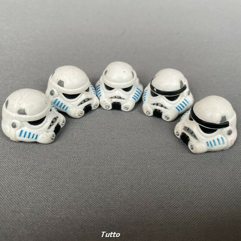 Lot 5Pcs Star Wars Helmet Clone Trooper Stormtrooper figure accessory toy