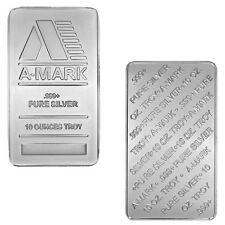 10 oz A-Mark Silver Bar (New, Lot of 2)