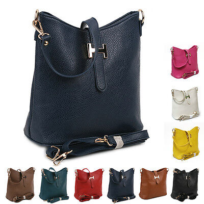 New Ladies Shoulder Tote Handbag Women Cross Body Bag Faux Leather Fashion Purse
