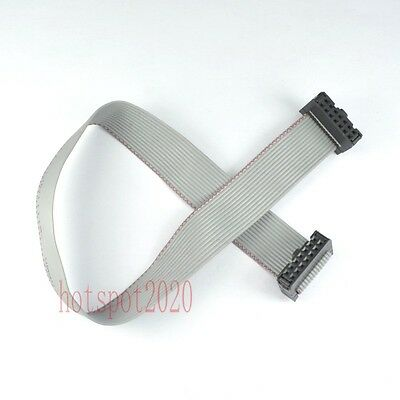 2pcs 2.54mm Pitch 2x7 14pinwire Idc Flat Ribbon Cable Jtag Avr Wire Length 30cm