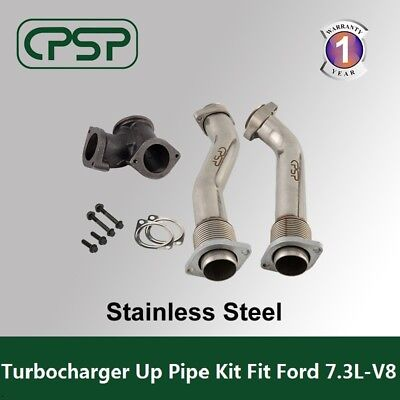 Ford 73L Power stroke 99 03 Bellowed Turbo Diesel  Exhaust Up Pipes  Gasket