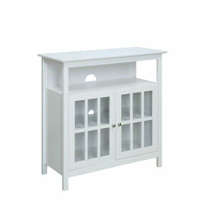Convenience Concepts Big Sur Highboy TV Stand in White ()