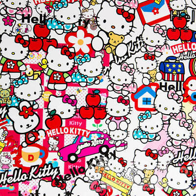 Stickerbomb Hello-Kitty Auto-folie 3D Car Wrapping Luftkanälen,Logos & Marken Hello Kitty Wrap