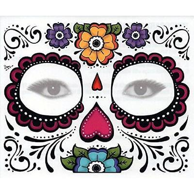 Tag der Toten Dia de Los Muertos Gesichtsmaske Zuckerschädel TATTOO