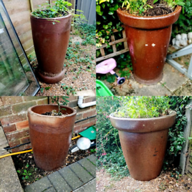 NOW REDUCED IN PRICE!! Vintage weathered garden Planters for sale