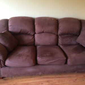 Brown Fabric Lazy Boy Couch 3 Cushions Kitchener / Waterloo Kitchener Area image 3