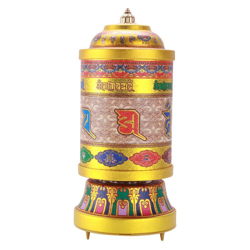 21cm Copper Tibetan Bddhism Supplies Electric Prayer Wheel Praying Wheel Decor