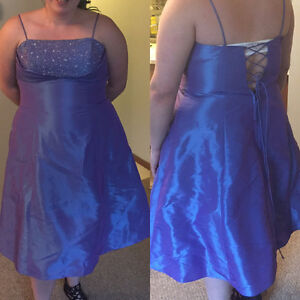 Beautiful Plus Size Purple Grad/Bridesmaid Dress