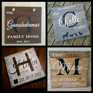 22×22 rustic pine wooden sign art custom distressed