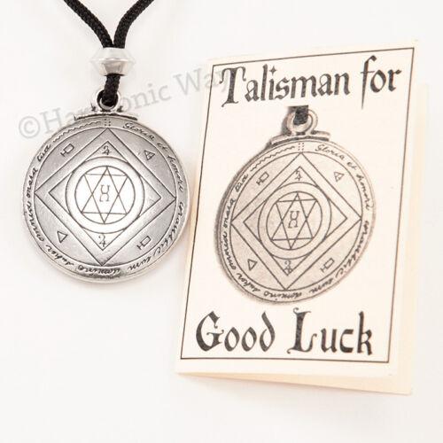 Talisman EXTREME GOOD LUCK Necklace Pendant Solomon Seal of Magic Amulet