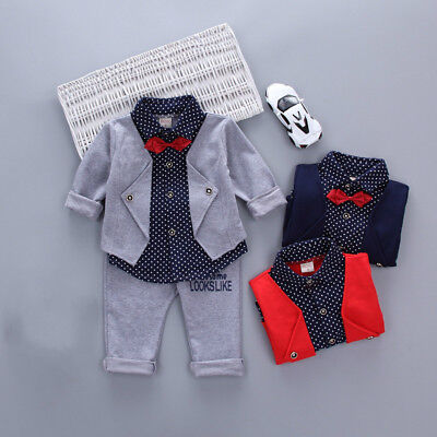 baby boy clothes Outfits 12-18 months gentleman suits kids 3y clothes suits