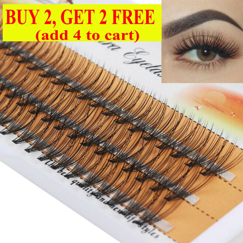 SKONHED Individual False Eyelashes Soft Faux Mink Hair C D C