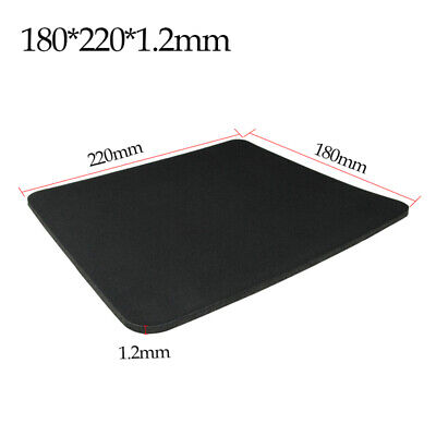 Black Fabric Mouse Mat Pad High Quality 1.2mm Thick Non Slip Foam 220mm x 18mm